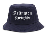 Arlington Heights Illinois IL Old English Mens Bucket Hat Navy Blue