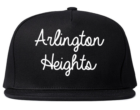 Arlington Heights Illinois IL Script Mens Snapback Hat Black