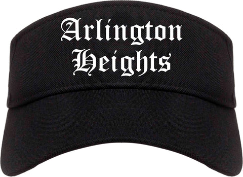 Arlington Heights Illinois IL Old English Mens Visor Cap Hat Black
