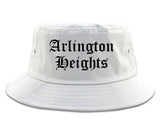 Arlington Heights Illinois IL Old English Mens Bucket Hat White