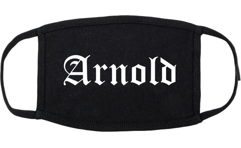 Arnold Missouri MO Old English Cotton Face Mask Black