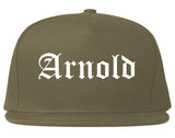 Arnold Missouri MO Old English Mens Snapback Hat Grey
