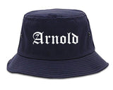 Arnold Missouri MO Old English Mens Bucket Hat Navy Blue