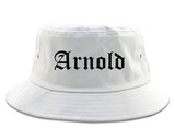 Arnold Missouri MO Old English Mens Bucket Hat White