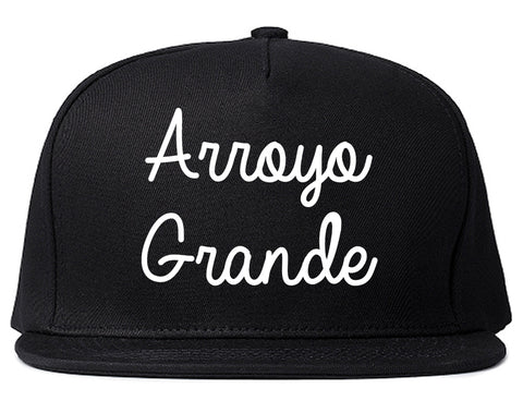 Arroyo Grande California CA Script Mens Snapback Hat Black