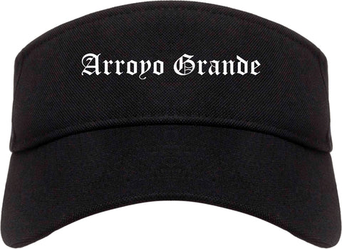 Arroyo Grande California CA Old English Mens Visor Cap Hat Black