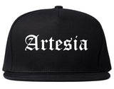 Artesia California CA Old English Mens Snapback Hat Black