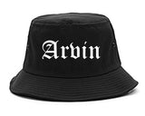 Arvin California CA Old English Mens Bucket Hat Black