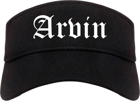 Arvin California CA Old English Mens Visor Cap Hat Black