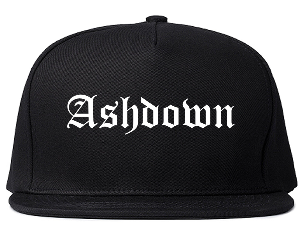 Ashdown Arkansas AR Old English Mens Snapback Hat Black
