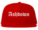 Ashdown Arkansas AR Old English Mens Snapback Hat Red