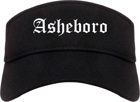 Asheboro North Carolina NC Old English Mens Visor Cap Hat Black