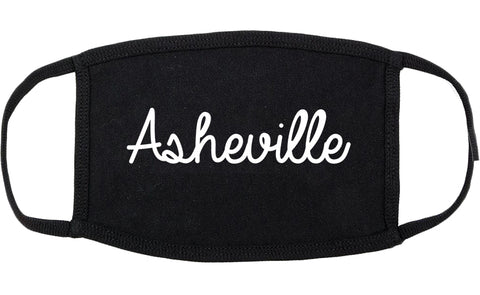 Asheville North Carolina NC Script Cotton Face Mask Black