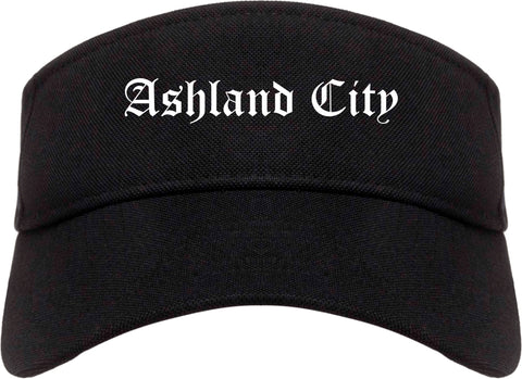 Ashland City Tennessee TN Old English Mens Visor Cap Hat Black