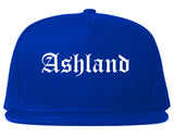 Ashland Ohio OH Old English Mens Snapback Hat Royal Blue