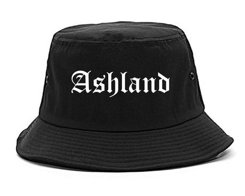 Ashland Ohio OH Old English Mens Bucket Hat Black
