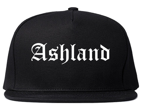 Ashland Virginia VA Old English Mens Snapback Hat Black