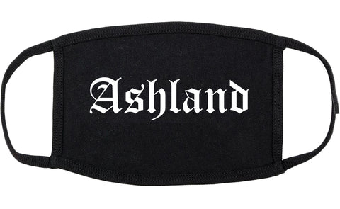 Ashland Wisconsin WI Old English Cotton Face Mask Black