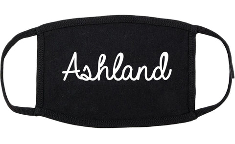 Ashland Wisconsin WI Script Cotton Face Mask Black