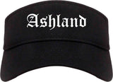 Ashland Wisconsin WI Old English Mens Visor Cap Hat Black
