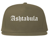 Ashtabula Ohio OH Old English Mens Snapback Hat Grey
