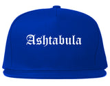 Ashtabula Ohio OH Old English Mens Snapback Hat Royal Blue