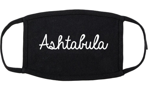 Ashtabula Ohio OH Script Cotton Face Mask Black