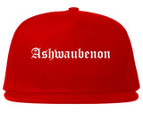 Ashwaubenon Wisconsin WI Old English Mens Snapback Hat Red