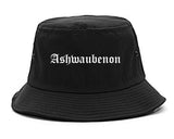 Ashwaubenon Wisconsin WI Old English Mens Bucket Hat Black