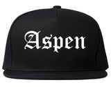 Aspen Colorado CO Old English Mens Snapback Hat Black