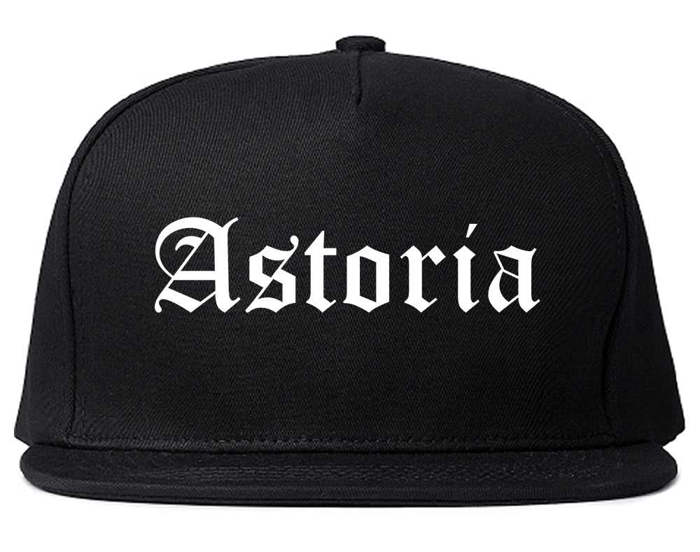 Astoria Oregon OR Old English Mens Snapback Hat Black