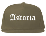 Astoria Oregon OR Old English Mens Snapback Hat Grey