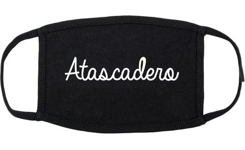 Atascadero California CA Script Cotton Face Mask Black