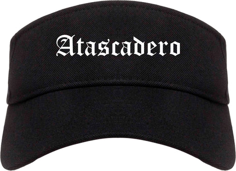 Atascadero California CA Old English Mens Visor Cap Hat Black