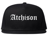 Atchison Kansas KS Old English Mens Snapback Hat Black
