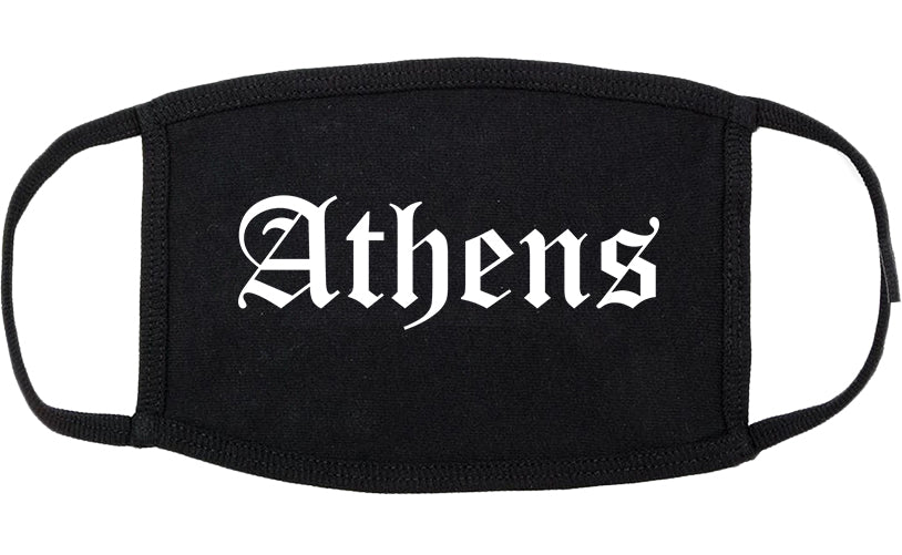Athens Alabama AL Old English Cotton Face Mask Black