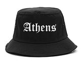 Athens Alabama AL Old English Mens Bucket Hat Black