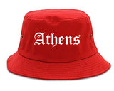 Athens Alabama AL Old English Mens Bucket Hat Red