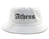 Athens Alabama AL Old English Mens Bucket Hat White