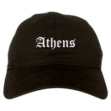 Athens Georgia GA Old English Mens Dad Hat Baseball Cap Black