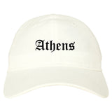 Athens Georgia GA Old English Mens Dad Hat Baseball Cap White
