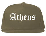 Athens Ohio OH Old English Mens Snapback Hat Grey