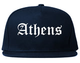 Athens Ohio OH Old English Mens Snapback Hat Navy Blue