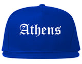 Athens Ohio OH Old English Mens Snapback Hat Royal Blue