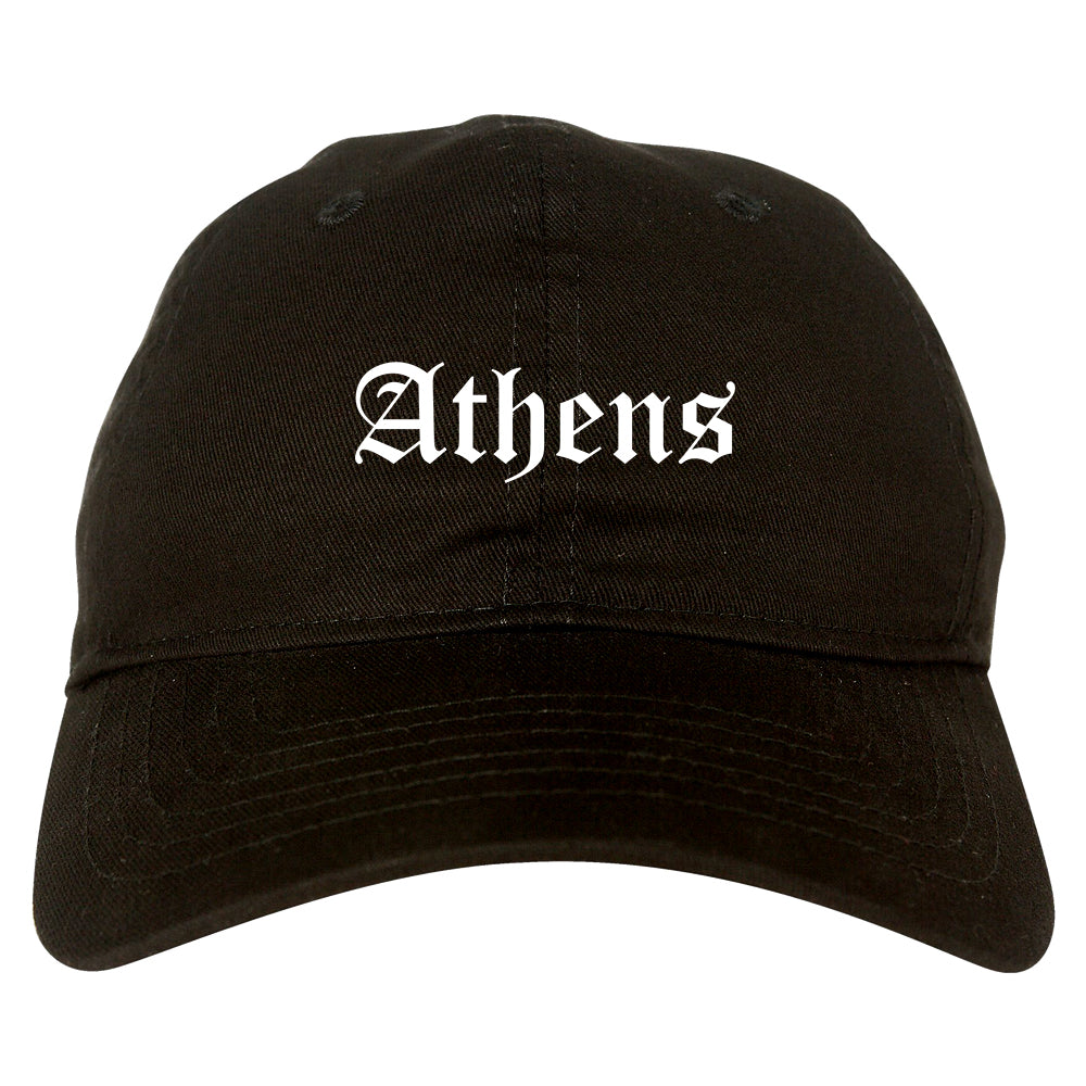 Athens Ohio OH Old English Mens Dad Hat Baseball Cap Black