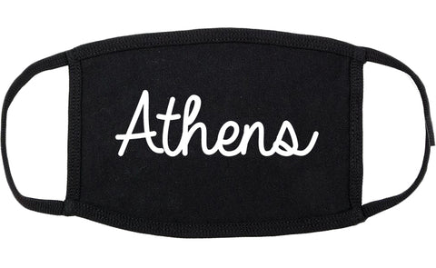 Athens Ohio OH Script Cotton Face Mask Black