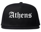 Athens Texas TX Old English Mens Snapback Hat Black