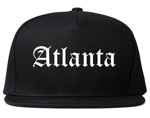 Atlanta Georgia GA Old English Mens Snapback Hat Black