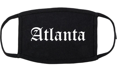 Atlanta Texas TX Old English Cotton Face Mask Black