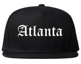 Atlanta Texas TX Old English Mens Snapback Hat Black